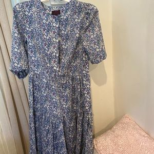 Brand new liberty x jcrew maxi dress